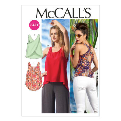 McCall's Misses' Tops Pattern M6751 Size 0Y0
