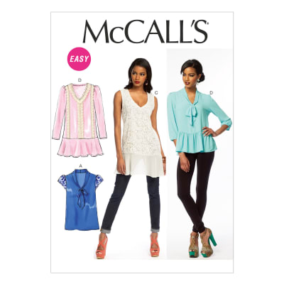 McCall's Misses' Tops Pattern M6793 Size 0Y0