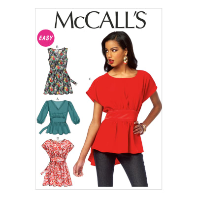 McCall's Misses' Tops and Tunics Pattern M6794 Size 0Y0