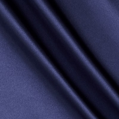 Poly Charmeuse Satin Navy