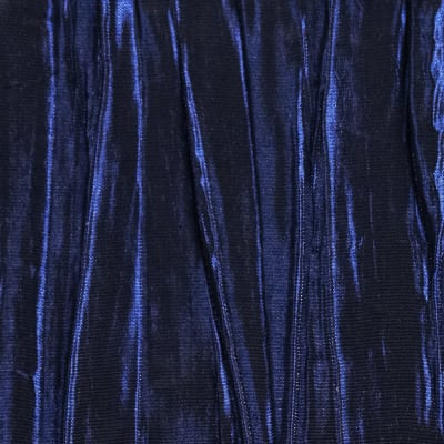 Creased Taffeta Iridescent Dark Royal