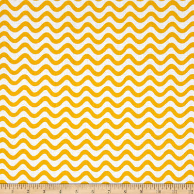 Tiny World Wavy Lines Yellow
