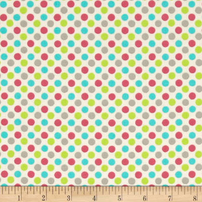 Lecien Spicy Scrap Multi Dot Cream