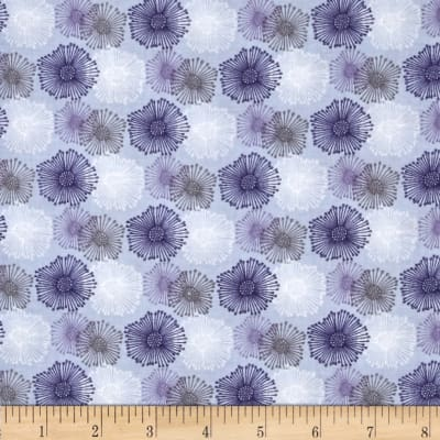 Fabric Freedom Springtime Floral Wire Flowers Blue