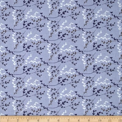Fabric Freedom Springtime Floral Viney Sprigs Blue