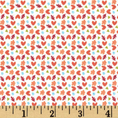 Fabric Freedom Woodland Floral White Flowers Aqua