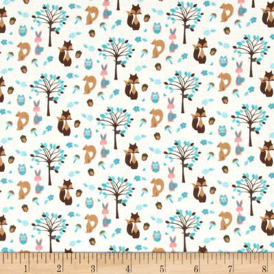 Fabric Freedom Woodland Animals Animals & Trees Turquoise