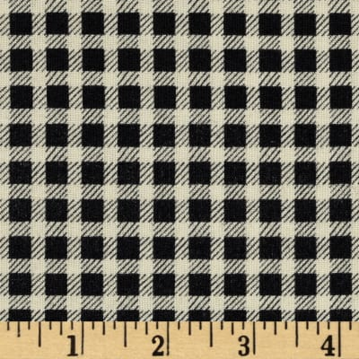 Crimson & Holly Gingham Black/Ivory