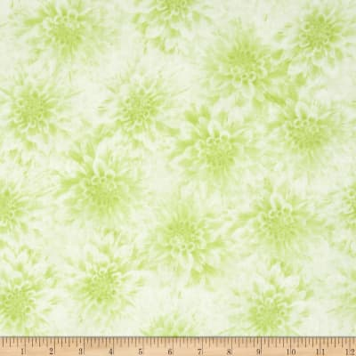 Shades of Dahlias Floral Texture Light Green