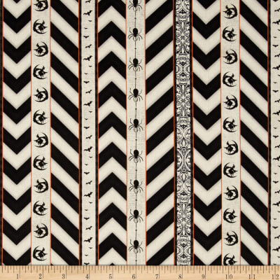 Something Wicked Ticking Stripe Ivory