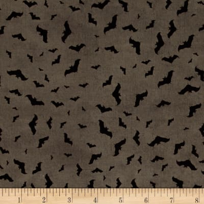 Something Wicked Bats Allover Dark Gray