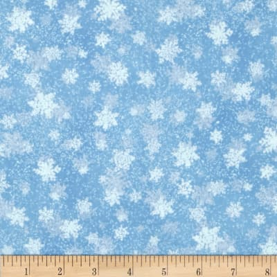 Quiet Bunny & Noisy Puppy Snowflake Light Blue