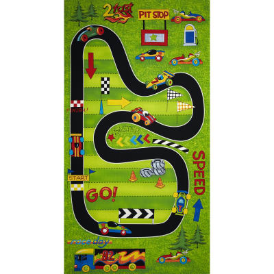 Race Day Race Track Playmat 24 In. Panel Multi