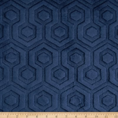 Shannon Premier Prints Embossed Geo Cuddle Navy