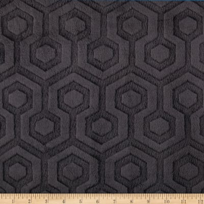 Shannon Premier Prints Embossed Geo Cuddle Black