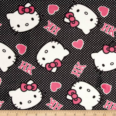 Hello Kitty Minky Ideas of Love Hearts Pink