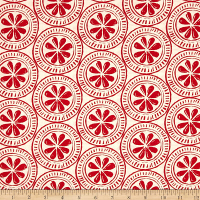 Moda Beach House Medallions White/Red