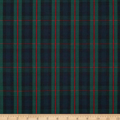Polyester Uniform Plaid Green/Blue/Red