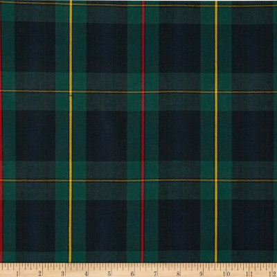 Polyester Uniform Plaid Red/Green/Yellow Poplin