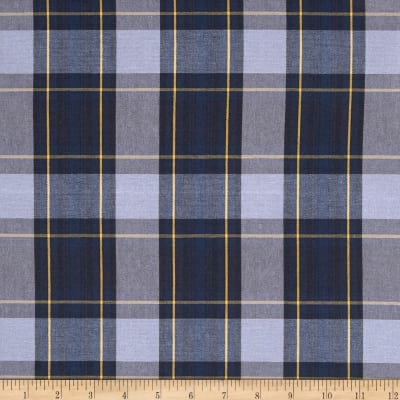 Poly/Cotton Uniform Plaid Blue/Black/Gold