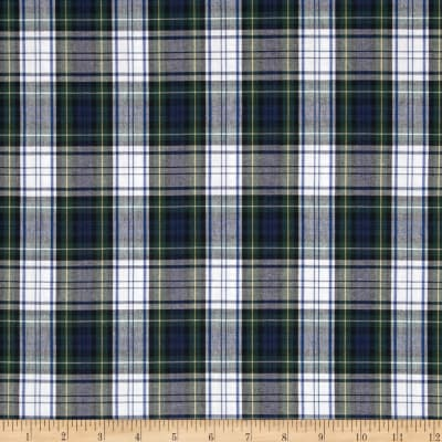 Poly/Cotton Uniform Plaid Blue/Green/White/Yellow Poplin