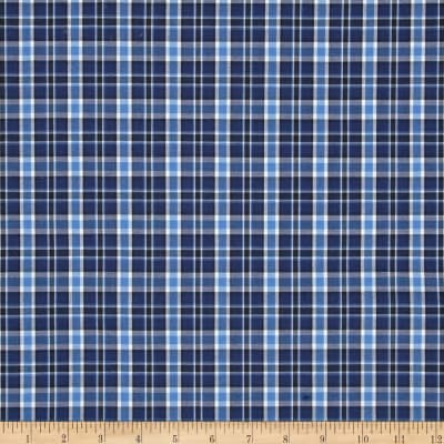 Poly/Cotton Uniform Plaid Navy/Blue/Black/White