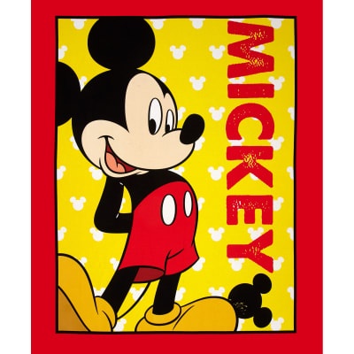 Disney's Mickey Mouse Panel Red/Yellow