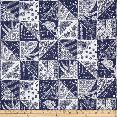 Bombay Diagonal Patch Blue