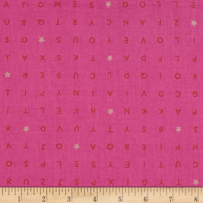 Cotton + Steel Playful Word Find Pink