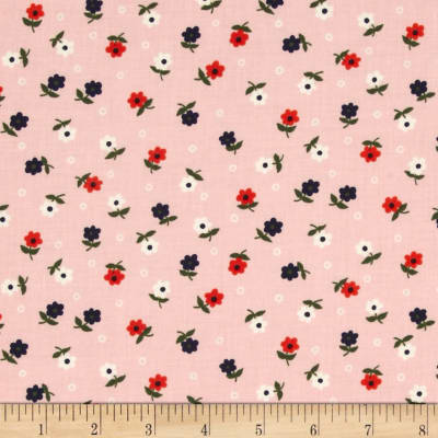Cotton + Steel Cookie Book Mini Flowers Pink