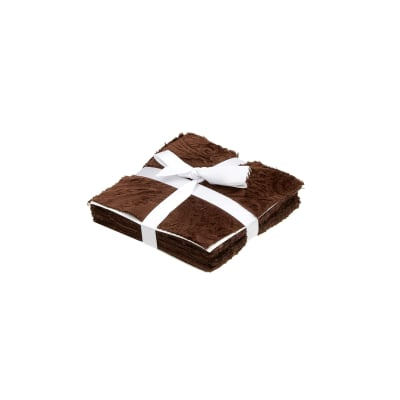 """Shannon Minky Cuddle Charms 5"""" Cuddle 3 Asst. Hot Chocolate/Multi Browns"""
