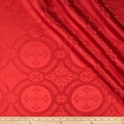 Clergy Brocade Red