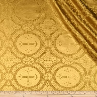Clergy Brocade Mustard