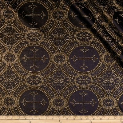 Clergy Metallic Brocade Black/Gold