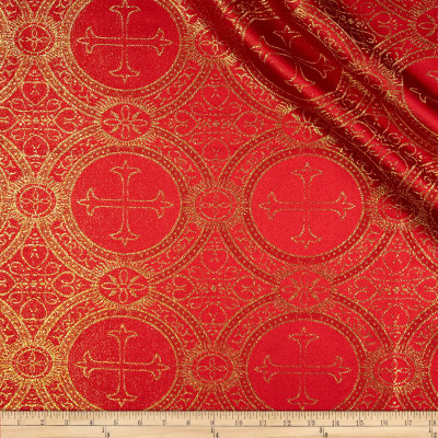 Clergy Metallic Brocade Red/Gold