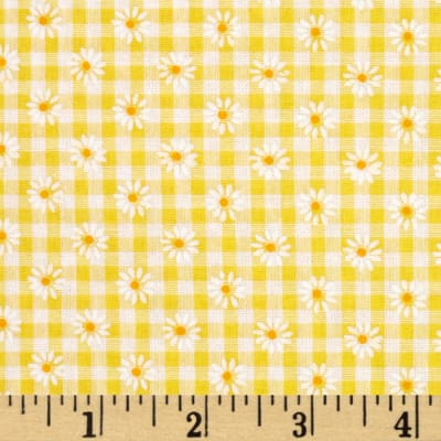 Woven 1/8 Daisy Gingham Yellow
