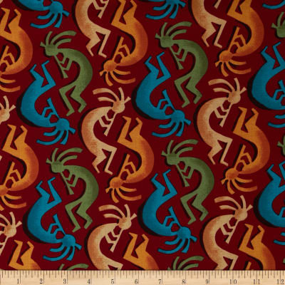 Michael Miller Painted Desert Kokopelli Stripe Salsa