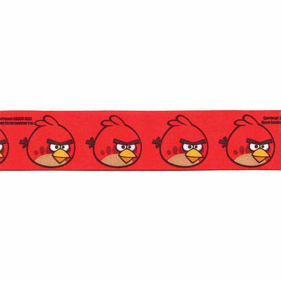 "7/8"" Angry Birds Large Bird Ribbon Red"