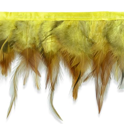 "5 1/2"" Jaylo Feather Trim Yellow"