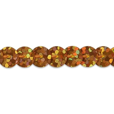 6mm Slung String Sequin Trim 100 yard Roll Orange