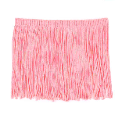 "4"" Stretch Chainette Fringe Trim Hot Pink"
