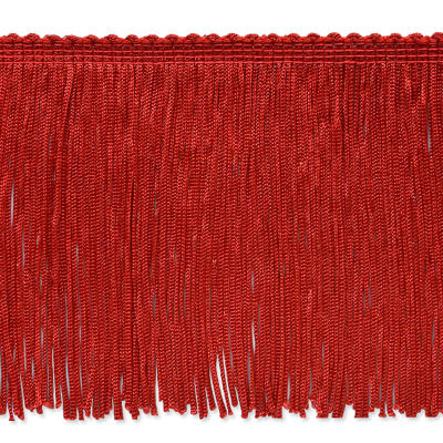"4"" Stretch Chainette Fringe Trim Red"