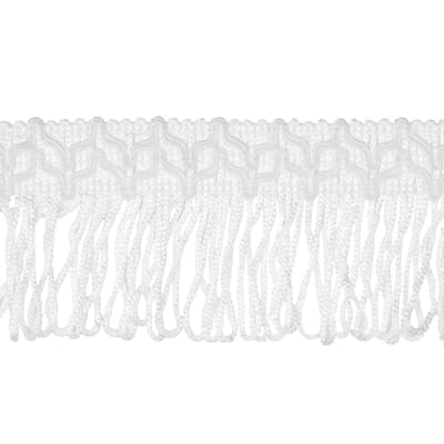 "2"" Sharlene Loop Chainette Fringe White"
