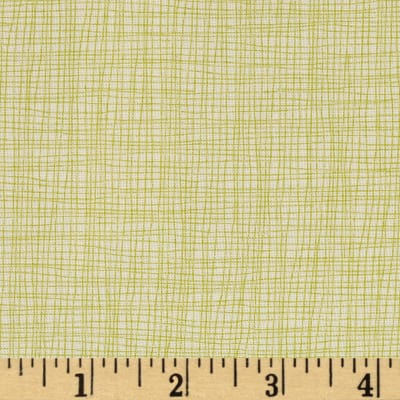 Moda Reel Time Grid Chalk/Chartreuse