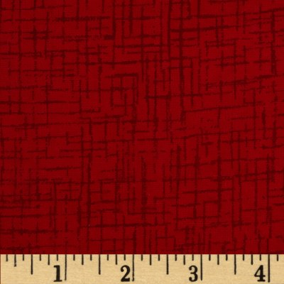Westrade 110 In. Wide Quilt Back Betula Flannel Red