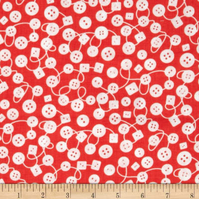Michael Miller Kids Bouncy Buttons Coral