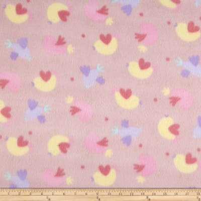 Juvenile Fleece Baby Girl Hearts Pink/Yellow/Purple