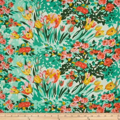Amy Butler Violette Meadow Blooms Minty
