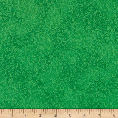 Timeless Treasures Jazz Flannel Green