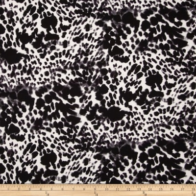 Paola Pique Knit Abstract Print Black/Charcoal/Cream